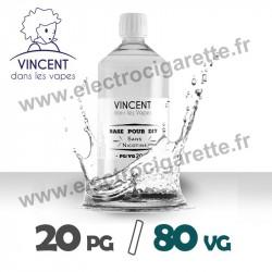 Base 20% PG / 80% VG - VDLV - 1 Litre