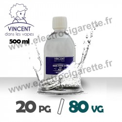 Base 20% PG / 80% VG - VDLV - 500 ml