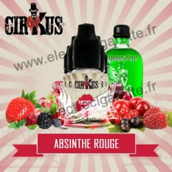 Pack de 5 flacons Absinthe Rouge - Cirkus by VDLV