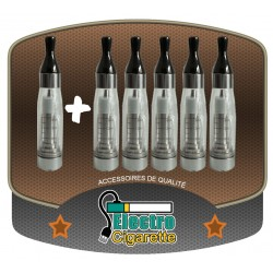 Pack de 5 Clearomizers C4 1.6 ml + 1 offert pour cigarette electronique eGo-T