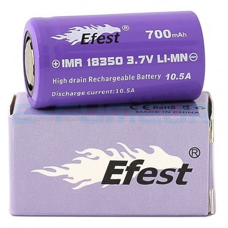 Efest Purple IMR 18350 - 700 mAh - 10.5 A