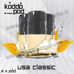 USA Classic - 3 x Pods Nano - KoddoPod Nano - Nouvvelle cartouche