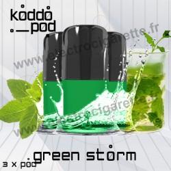 Green Storm - 3 x Pods Nano - KoddoPod Nano - Nouveaux Pods