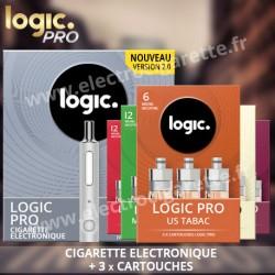 Cigarette electronique Logic Pro - White Edition Soft Touch avec Cartouche
