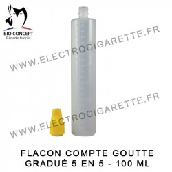 Flacon compte goutte gradué - 100 ml - Bio Concept