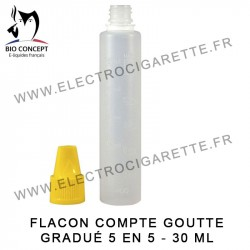 Flacon compte goutte gradué - 30 ml - Bio Concept
