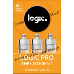 Cigarette electronique Logic Pro Chromé avec Cartouche Thé d'Orient