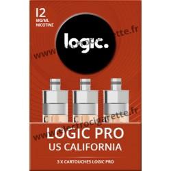 Cigarette electronique Logic Pro Chromé avec Cartouche US California