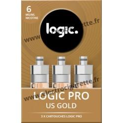 Cigarette electronique Logic Pro Chromé avec Cartouche US Gold