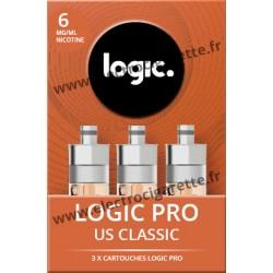 Cigarette electronique Logic Pro Chromé avec Cartouche US Classic