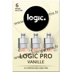 Cigarette electronique Logic Pro Chromé avec Cartouche Vanille