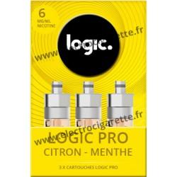 Cigarette electronique Logic Pro Chromé avec Cartouche Citron Menthe
