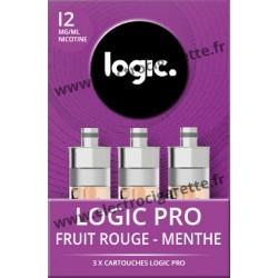 Cigarette electronique Logic Pro Chromé avec Cartouche Menthe Fruité