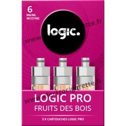 Cigarette electronique Logic Pro Chromé avec Cartouche Fruits des Bois