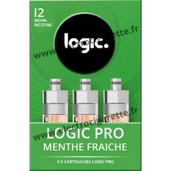 Cigarette electronique Logic Pro Chromé avec Cartouche Menthe Fraîche