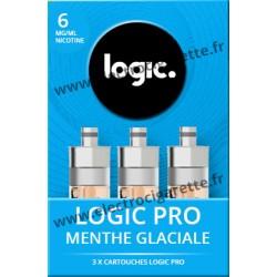 Cigarette electronique Logic Pro Chromé avec Cartouche Menthe Glaciale