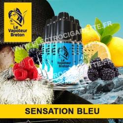 Pack de 5 x Bleu - Sensation - Le Vapoteur Breton - 10 ml