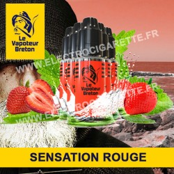 Pack de 5 x Rouge - Sensation - Le Vapoteur Breton - 10 ml