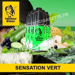 Pack de 5 x Vert - Sensation - Le Vapoteur Breton - 10 ml