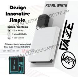 Batterie Vaze Pearl White