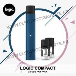 Cigarette électronique Compact Bleu - Logic Compact - 2 Pod par Pack