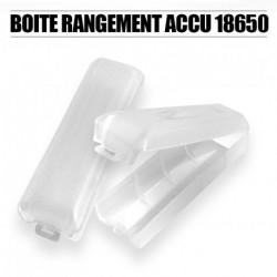 Boite en PET rigide pour accu 18650 - Transparent