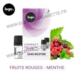 Fruit Rouge Menthe - Pack de 2 x Capsules (Pod) - Logic Compact