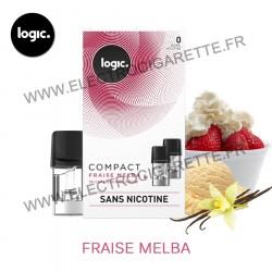 Fraise Melba - Pack de 2 x Capsules (Pod) - Logic Compact