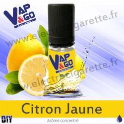 Citron Jaune - Vape&Go - Arôme concentré DiY - 10 ml