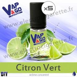 Citron Vert - Vape&Go - Arôme concentré DiY - 5x10 ml
