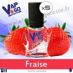 Fraise - Vape&Go - Arôme concentré DiY - 5x10 ml