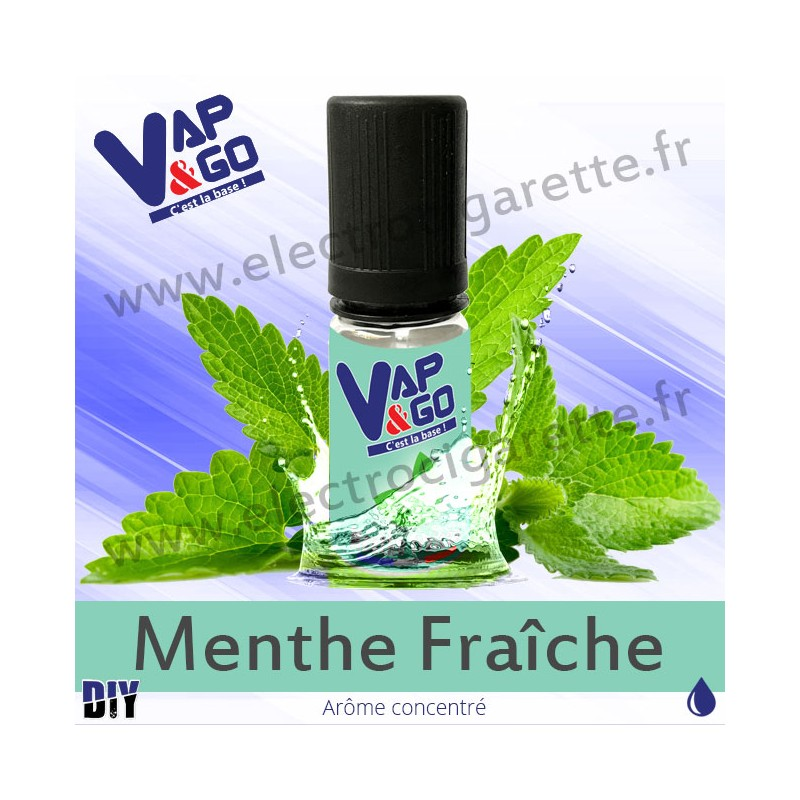 Menthe Fraîche - Vape&Go - Arôme concentré DiY - 10 ml
