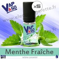 Menthe Fraîche - Vape&Go - Arôme concentré DiY - 5x10 ml