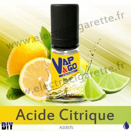 Acide Citrique - Vape&Go - Additif DiY - 10 ml