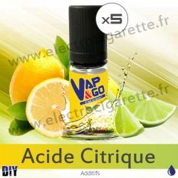 Acide Citrique - Vape&Go - Additif DiY - 5x10 ml