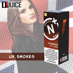 UK Smokes - T-Juice - 10ml - Nicotine Plus - Sel de nicotine