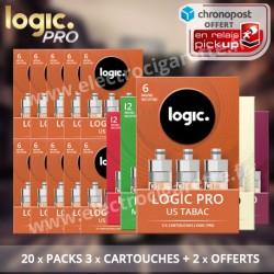 Pack Logic Pro - E-Cig - 20 x Cartouches + 2 Offertes - Chronopost Relais Offert