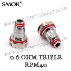 Pack de 5 x résistances Triple 0.6ohm RPM40 - Smok