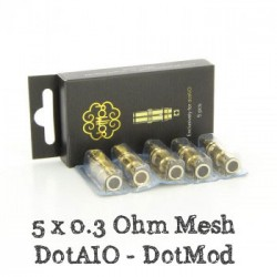 Pack de 5 x résistances DotAIO 0.3 Ohm - Dotmod