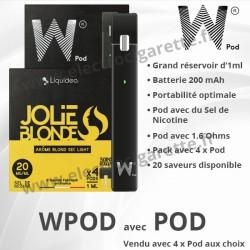 Cigarette électronique Wpod avec 4 x Pod 1 ml - Liquideo