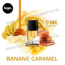 Banane Caramel - Goût Intense - Pack de 2 x Capsules (Pod) - Logic Compact