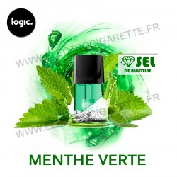 Menthe Verte - Goût Intense - Pack de 2 x Capsules (Pod) - Logic Compact