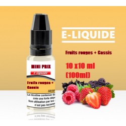 Pack 10x10 Fruits rouges cassis 6mg PRIX MINI