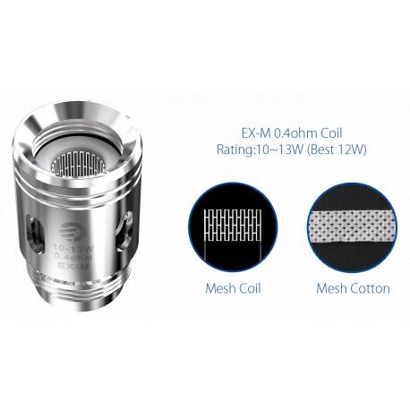 EX-M Coil Head 0.4ohm x5 presentation