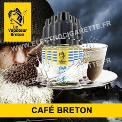 Pack de 5 x Café Breton - L'Authentic - Le Vapoteur Breton - 10 ml