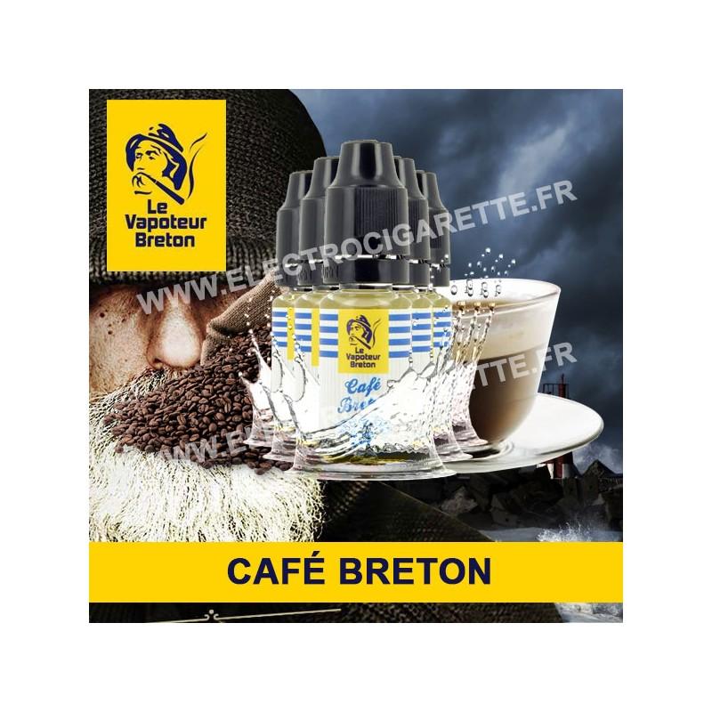 Pack de 5 x Café Breton - L'Authentic - Le Vapoteur Breton - 10 ml