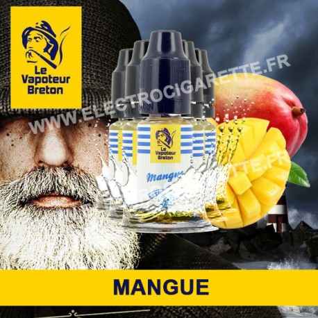 Pack de 5 x Mangue - L'Authentic - Le Vapoteur Breton - 10 ml
