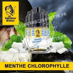 Pack de 5 x Menthe Chlorophylle - L'Authentic - Le Vapoteur Breton - 10 ml