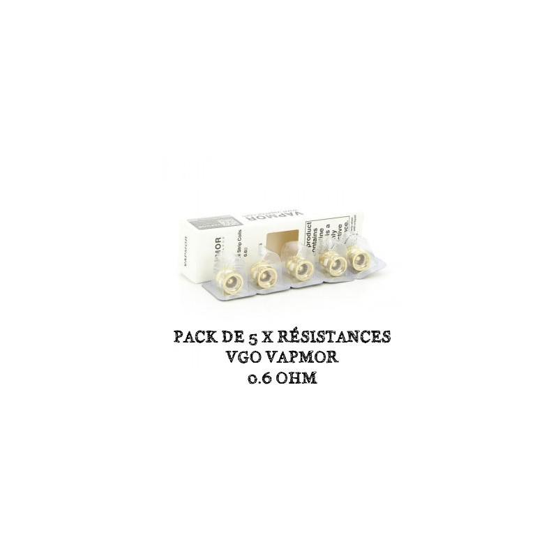 Pack de 5 x résistances VGO VapMor - 0.6 Ohm