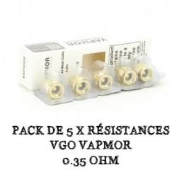 Pack de 5 x résistances VGO VapMor - 0.35 Ohm